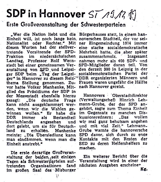 SDP in Hannover